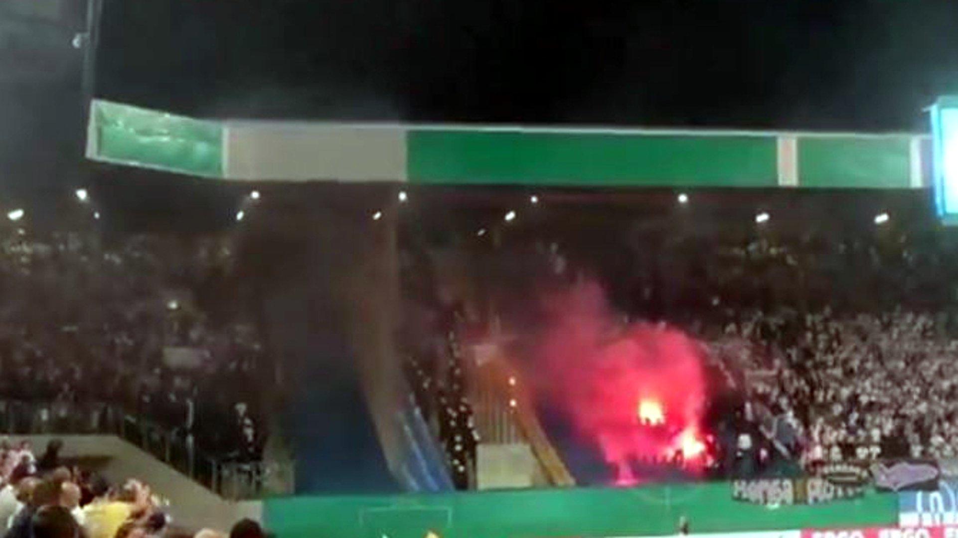 Rostock gegen Berlin: Eskalation bei DFB-Pokalspiel