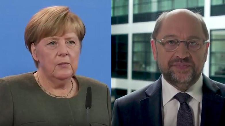 Reaktionen auf Barcelon: Schulz und Merkel