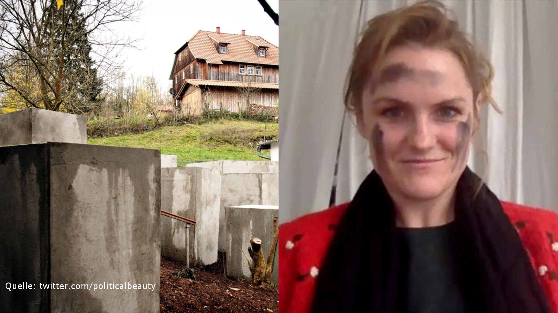 Interview mit Zentrum für Politische Schönheit zum Holocaust-Mahnmal vor Björn Höckes Tür