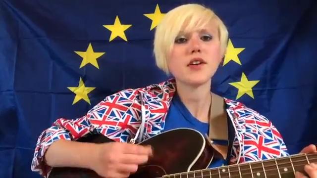 Das EU Supergirl: Mit Musik gegen den Brexit