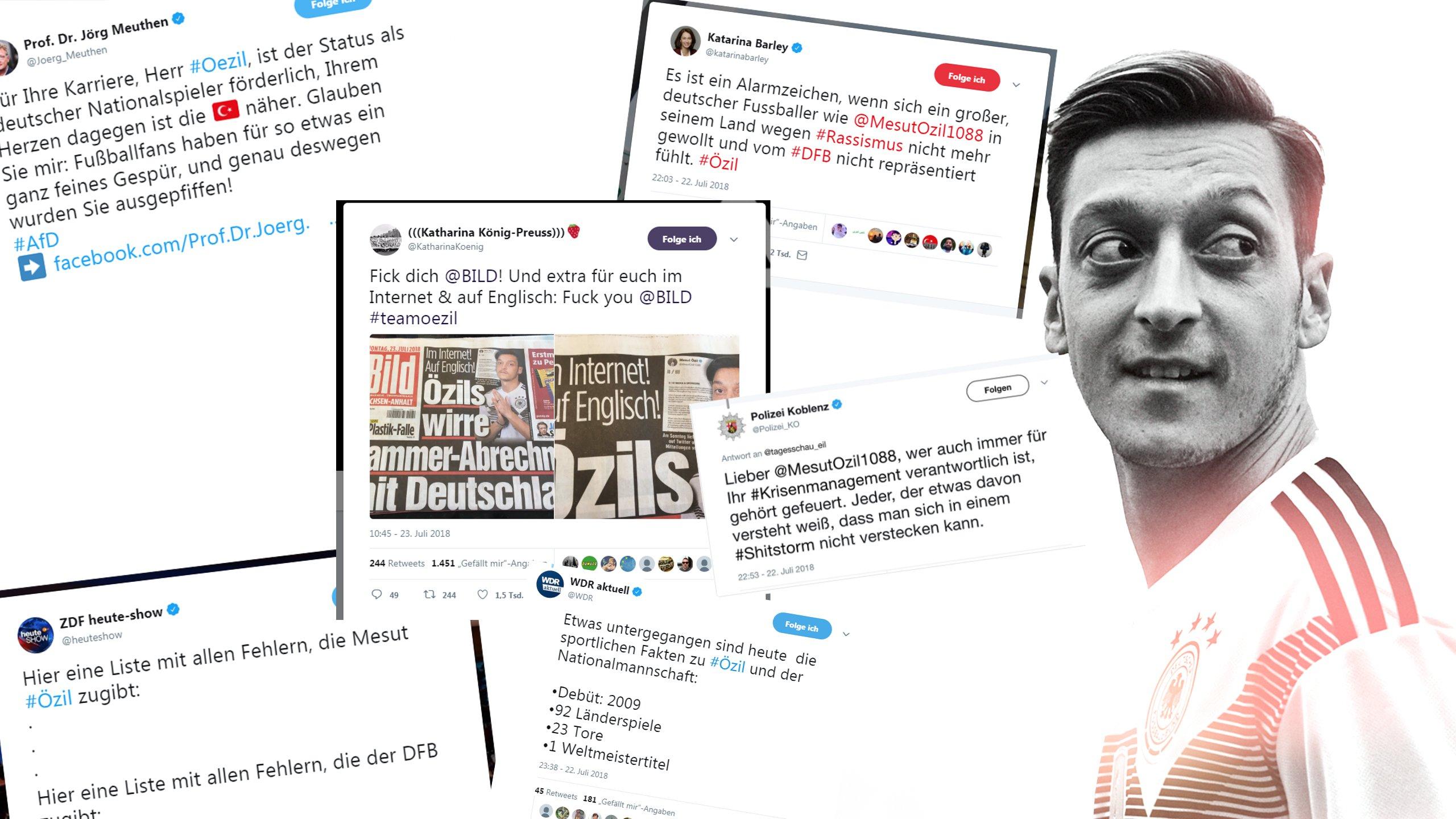 So reagiert das Netz auf das Statement von Özil über Rassismus im Fußball