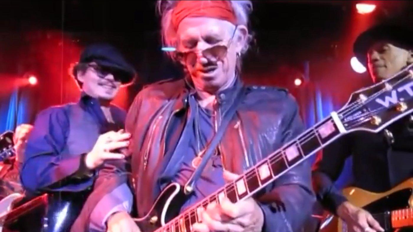 Keith Richards wird 75: Gemeinsame Jam mit Johnny Depp