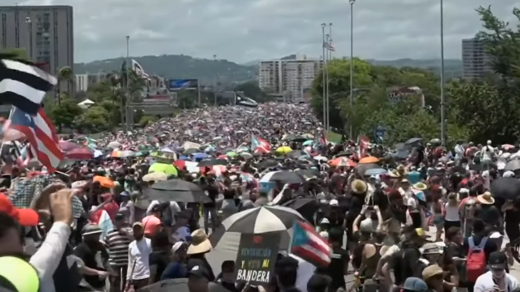 Screenshot Puerto Rico Protest