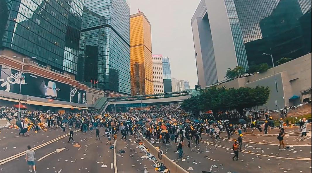 6) Mein Hongkong - Proteste Drohne